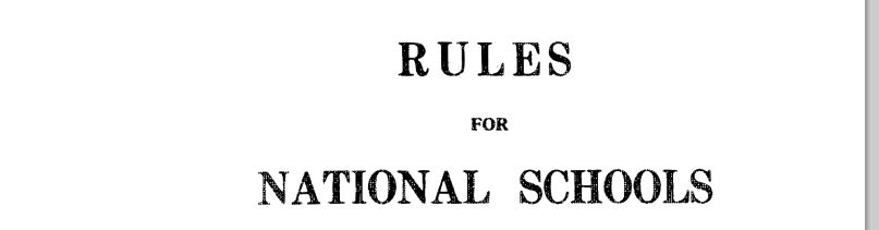 Revising Ancient Rules for Primary Schools